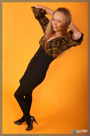 Small-titted brunette cutie posing in a transparent top - XXXonXXX - Pic 2