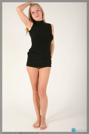 Small-titted brunette cutie posing in a transparent top - XXXonXXX - Pic 5
