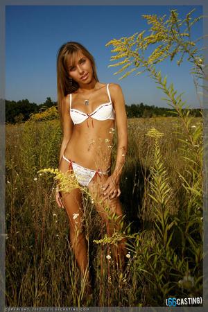 Small-titted brunette cutie posing in a transparent top - XXXonXXX - Pic 8