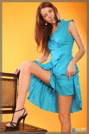 Fair-haired teen gal taking off her blue bikini - XXXonXXX - Pic 9