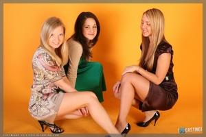 Sweet blonde freshie in ballerina suit splitting legs apart - XXXonXXX - Pic 6