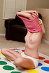 These two naughty blonde teens enjoy their twister…