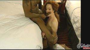 Naughty redhead getting hardcore penetrated by two big black cocks. - XXXonXXX - Pic 4