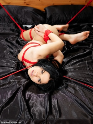Seductive nude babe gets folded, bound a - XXX Dessert - Picture 6