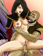 Avatar's older friends pounding some slutty…