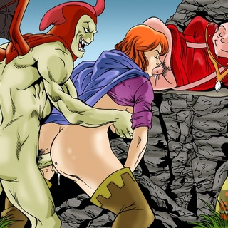 Nasty redhead get plugged both ends - Cartoon Sex - Picture 3