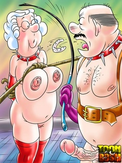 Old goat applies various sex tools to his - Cartoon Sex - Picture 3