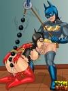Toon superhero fucking his enslaved sluts badly