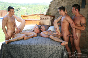Horny Guys Just Love To Get Hardcore Fucked In A Gangbang. - XXXonXXX - Pic 6