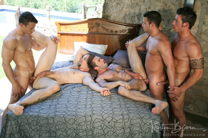 Horny Guys Just Love To Get Hardcore Fucked In A Gangbang. - XXXonXXX - Pic 12