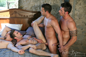 Horny Guys Just Love To Get Hardcore Fucked In A Gangbang. - XXXonXXX - Pic 13