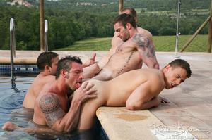 Horny Guys Just Love To Get Hardcore Fucked In A Gangbang. - XXXonXXX - Pic 15