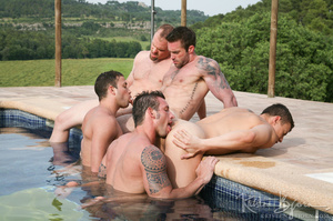 Horny Guys Just Love To Get Hardcore Fucked In A Gangbang. - XXXonXXX - Pic 16