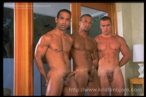 Three Gays With Gorgeously Formed Bodies Having Fun With Each Other. - XXXonXXX - Pic 1