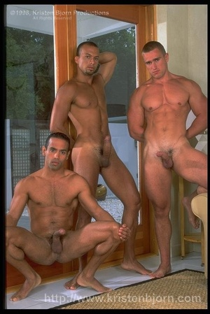 Three Gays With Gorgeously Formed Bodies Having Fun With Each Other. - XXXonXXX - Pic 2