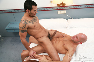 Athelitc gays swallowing cock and getting anally fucked. - XXXonXXX - Pic 27
