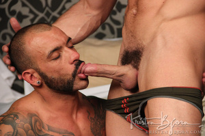 Sexy muscular guys swallowing each others dicks and having anal sex. - XXXonXXX - Pic 11