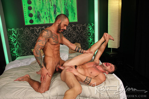 Sexy muscular guys swallowing each others dicks and having anal sex. - XXXonXXX - Pic 23