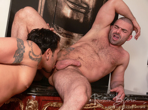 Hairy gay just loves to get his gorgeous ass hardcore pounded. - XXXonXXX - Pic 16