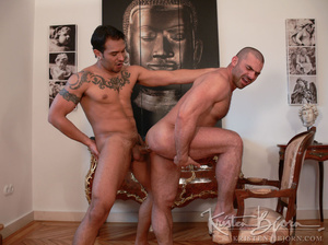 Hairy gay just loves to get his gorgeous ass hardcore pounded. - XXXonXXX - Pic 18