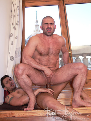 Hairy gay just loves to get his gorgeous ass hardcore pounded. - XXXonXXX - Pic 19