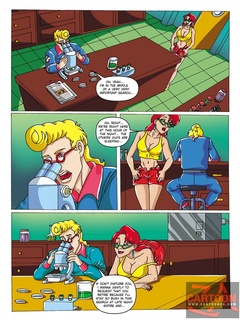 Cute Janine strips nude to tempt Egon away - Cartoon Sex - Picture 1