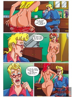 Cute Janine strips nude to tempt Egon away - Cartoon Sex - Picture 2