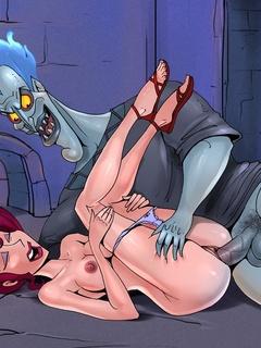 Slutty cute Megara enjoys fucking Hercules - Cartoon Sex - Picture 3