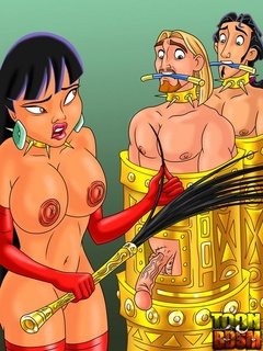 Cute Chel punishes Miguel and in bondage - Cartoon Sex - Picture 2