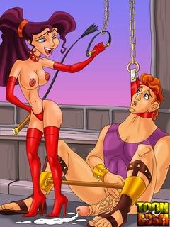 Pretty Megara has Hercules in sexual bondage - Cartoon Sex - Picture 1