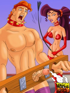 Pretty Megara has Hercules in sexual bondage - Cartoon Sex - Picture 2