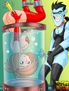 Dr. Drakken binds Kim and screws her pussy and asshole using big dick