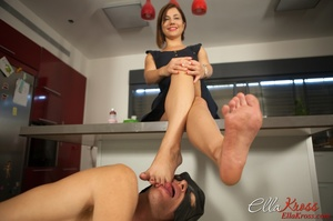 Awesome foot fetish pics of a masked lad licking mistress' toes - XXXonXXX - Pic 7