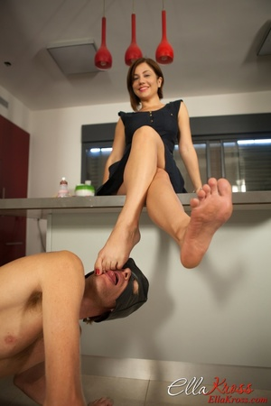 Awesome foot fetish pics of a masked lad licking mistress' toes - XXXonXXX - Pic 9