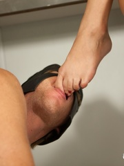Awesome foot fetish pics of a masked lad licking - XXXonXXX - Pic 11