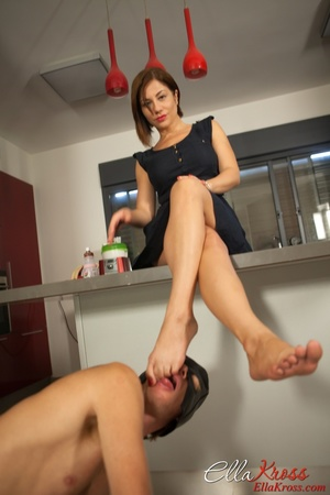 Awesome foot fetish pics of a masked lad licking mistress' toes - XXXonXXX - Pic 12