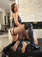 Kinky mom in high boots and corset drills dude's - XXXonXXX - Pic 6
