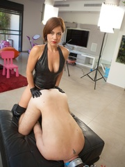 Kinky mom in high boots and corset drills dude's - XXXonXXX - Pic 7