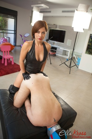 Kinky mom in high boots and corset drills dude's butt with a strapon - XXXonXXX - Pic 7
