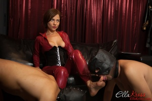 Two enslaved dudes in masks get humiliated and tortured badly by kinky ginger mistress - XXXonXXX - Pic 4