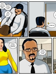 Slim Indian chick gets gangbanged in the office - Picture 2