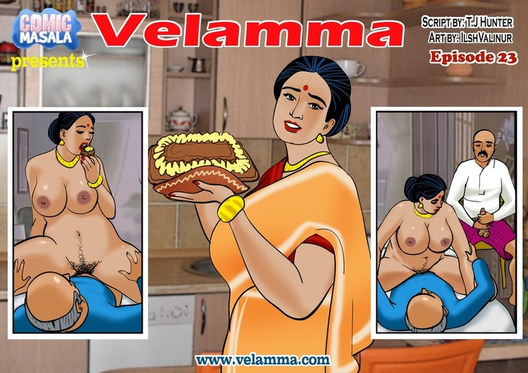 Dirty Indian housewife fucking with two old boys - Picture 1