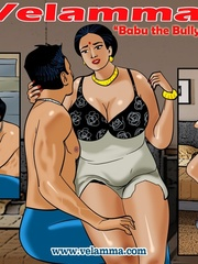 Slutty Indian mom gets doggystyled by a horny guy - Picture 1