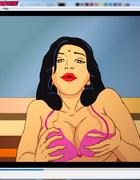 Dirty Indian housewife Savita giving a hot blowjob kneeling