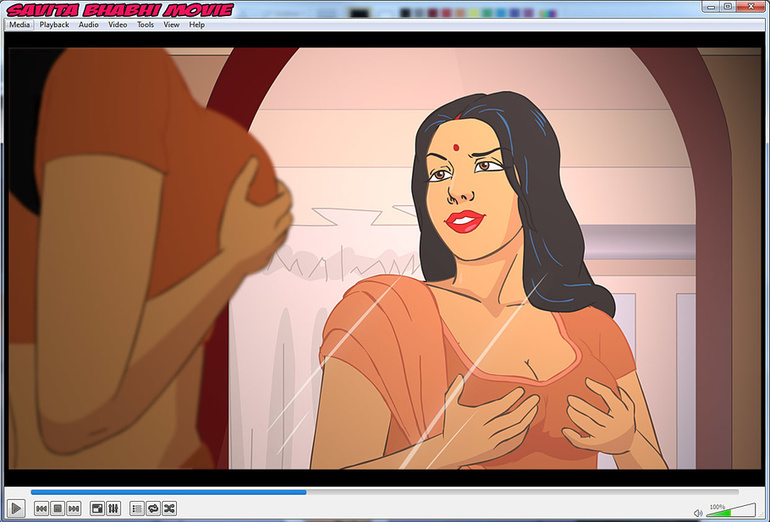 Dirty whore Savita getting her mouth stuffed with a - Picture 2