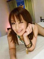 asian girl strips fishnet