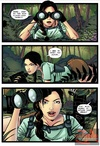 Lara Croft is caught spying by two guys and…
