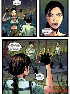 Lara Croft is caught spying by two guys and - Cartoon Sex - Picture 2