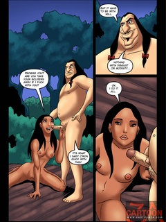 Pocahontas goes down on Governor Ratcliffe - Cartoon Sex - Picture 1