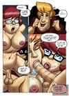 Horny Velma and sexy Daphne take turns sucking and fucking lucky Shaggy